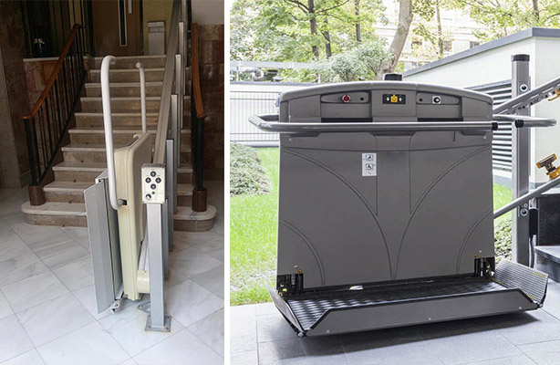 Plataforma salvaescalera para silla de ruedas for Plataforma para silla de ruedas