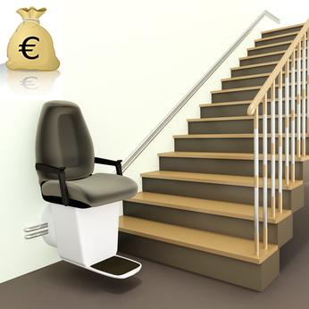 Precio sillas salvaescaleras ascensoresym s for Silla salvaescaleras