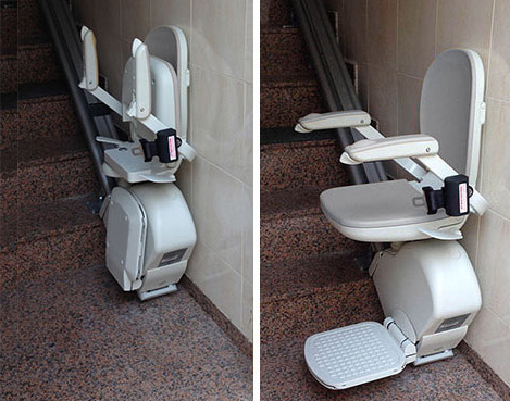 Sillas el ctricas para subir escaleras ascensoresym for Sillas ascensores para escaleras precios