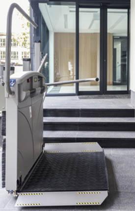 Plataforma Salvaescaleras para sillas de ruedas