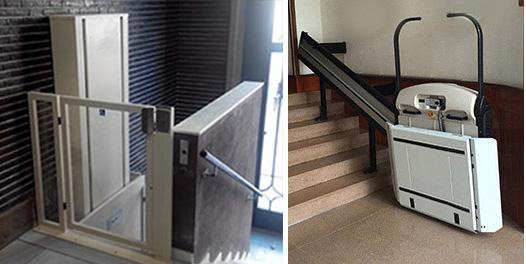 Plateformes de monte-escalier