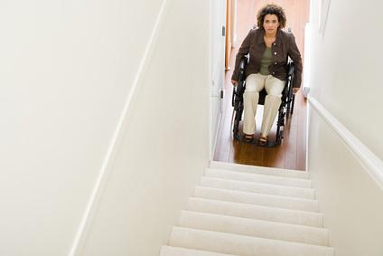 Subir y bajar las escaleras del hogar