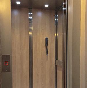 Cabina de los ascensores para viviendas particulares