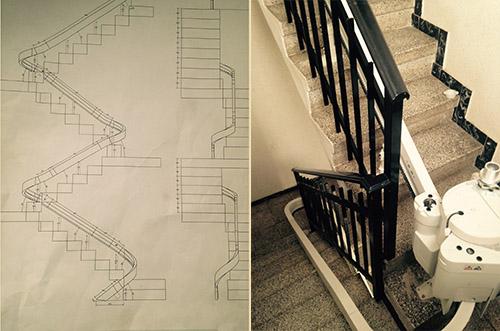 Service technique pour les monteurs d'escaliers