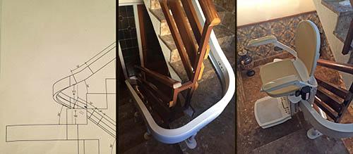 Cómo se instala una silla salvaescaleras