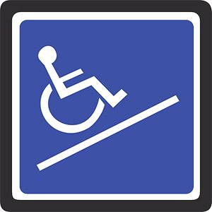 Rampes d'accès pour personnes handicapées dans les portails