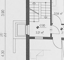 , Projet d'installation d'ascenseur de logements unifamiliaux   monte escalier tournant