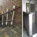 Escalera con Plataforma para Silla de Ruedas