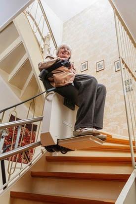 , Types d'escaliers et d'escaliers intérieurs   photo monte-escalier