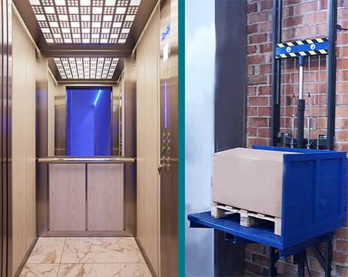 diferencias entre ascensores y montacargas